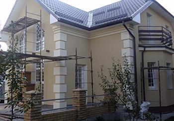 фасад утепленного дома