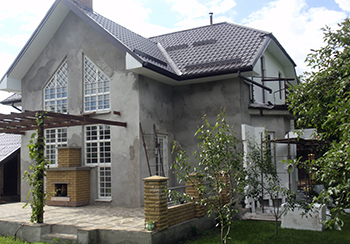 фасад дома до утепления